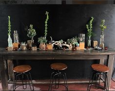 Our vintage styled wedding event bar and lounge, styled by Silver Thistle Weddings & Events.