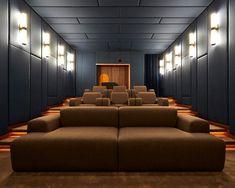 Home Theater Room Design, Home Cinema Room, Home Theater Rooms, Cinema Chairs, Villa Design, Story House, Living Spaces, Interior Design, Cellar