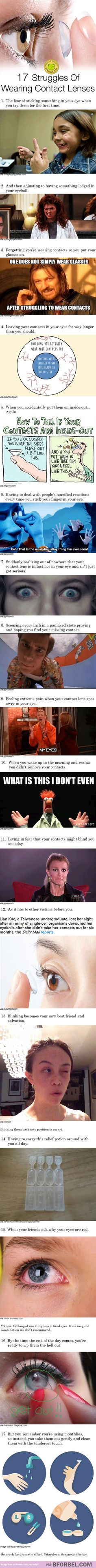 17 Struggles Of Wearing Contact Lenses…: