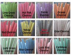 30 Chevron Paper Drinking Straws by DKDeleKtables on Etsy