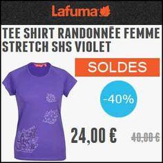 #missbonreduction; Soldes : remise de 40% sur un Tee shirt randonnée femme Stretch SHS violet chez Lafuma. http://www.miss-bon-reduction.fr//details-bon-reduction-Lafuma-i819209-c1841588.html
