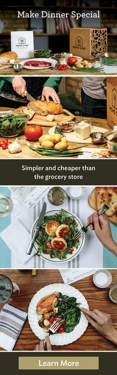 Find out how Home Chef is simpler and cheaper than the grocery store. Skip the store. Save time. Save money. Get $30 off your first order when you try Home Chef today.