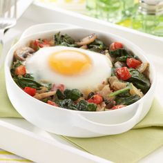 Baked Eggs with Mushrooms and Potatoes