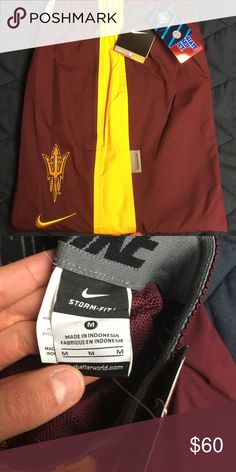 Nike ASU Sun Devil Windbreaker Sweat Pants Nike ASU Sun Devil Windbreaker Sweat Pants NWT!! Nike Pants Sweatpants & Joggers