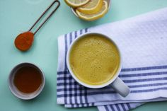 bullet proof, gut healing golden milk with Turmeric and coconut oil. Comes together in 5 minutes, and is gluten free, vegan, nut free and refined sugar free. Turmeric Milk, Golden Milk, Create A Recipe, What's Cooking, What To Cook, Meals For The Week, Nut Free, Coconut Milk, Vegan Vegetarian