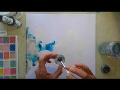 Christin Gronnslett Making a layout background watercolor style - YouTube