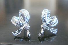 Sterling Silver Crystal Cubic Zirconia Ribbon by ElegantDreams, $4.65