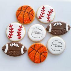 Basketball Cookies, Baseball Cookies, Football Cookies, Ping Pong Ball Cookies, Sports Cookies, Confection Connection