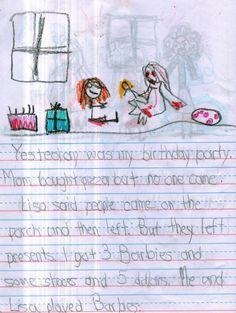 Ieri c'è stata la mia festa di compleanno. Mamma ha comprato la pizza ma non è venuto nessuno. Creepy Kids Drawings, Creepy Facts, Drawing For Kids, Lisa, Horror, Presents, Snoopy, Mom, Fictional Characters