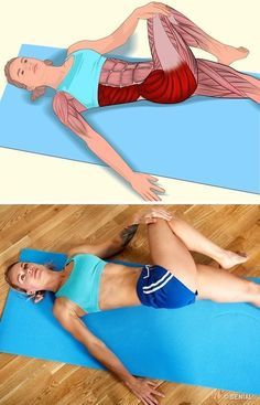 İlgili kaslar: Popo ve karın yan kaslar. Sağ dizinizi bükün ve… Related muscles: Butt and abdominal side muscles. Bend your right knee and move your leg from left to body. Press lightly with your hand to… Continue Reading → Yoga Fitness, Fitness Workouts, Pilates Workout, At Home Workouts, Health Fitness, Yoga Workouts, Muscle Stretches, Stretching Exercises, Hip Strengthening Exercises
