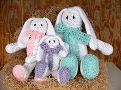 Picture of Floppy Ear Bunny Family Crochet Pattern