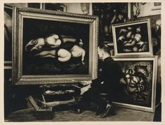 Self-portrait made in the studio of Saint Pierre Grenier, while painting 'The Flower of Paradise.'' by Pierre Molinier British Journal Of Photography, Modern Photography, Art Of Love, All Art, Photomontage, Collage Making, Paris Photos, French Artists, Erotic Art