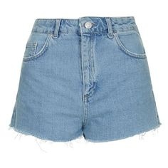 Topshop Moto Slouchy Cutoff Shorts (40 CAD) ❤ liked on Polyvore featuring shorts, bottoms, high-rise shorts, topshop shorts, zipper shorts, high waisted cut off shorts and high waisted shorts