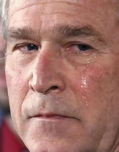think you would ever see Obama shed a tear over American tragedy? I think not We Will Never Forget, Lest We Forget, American Presidents, American History, 11 September 2001, Day Of Infamy, Bush Family, Our President, We Remember