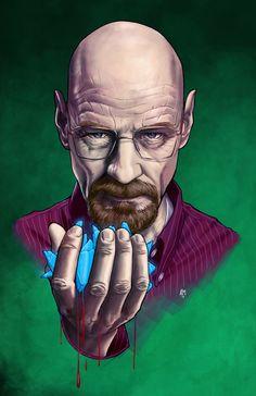 Heisenberg (Breaking Bad) by Andrea Mangiri - Buy Print HERE___®___! Canvas Art, Canvas Prints, Art Prints, Bad Tattoo, History Instagram, Bad Fan Art, Breaking Bad Art, Desenho Tattoo, Heisenberg