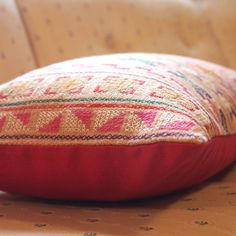 13 x 20  Namtarn hand - stitched tribal cotton pillow cover