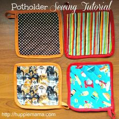 Potholder Sewing Tutorial  I still have one from one of my Great Grandmother's!