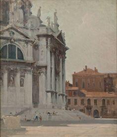 Ottavio Mazzonis Venezia (La Salute) 1974 olio su compensato, 58 x 50 cm. Fondazione Ottavio Mazzonis