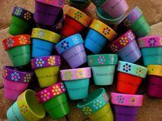 Small Painted Flower Pots for Baby Shower by HappyMooseGardenArt, $3.00