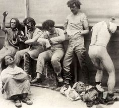 Melted and damaged Mannequins after a fire in the Madame Tussauds Wax Museum in London, 1925pic.twitter.com/xXUGLrY8XJ