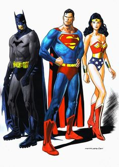 The DC Trinity: Superman, Batman, and Wonder Woman