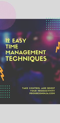 Check out these 12 easy time management techniques that will help you take control and boost your productivity. Time Management Techniques, Effective Time Management, Time Management Strategies, Management Tips, Pareto Principle, Ways To Save Money, Money Tips, Limbic System, Tired Of Work