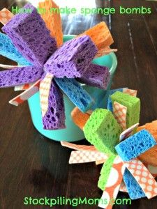 How to make sponge bombs - perfect for the summer - the kids will love it!