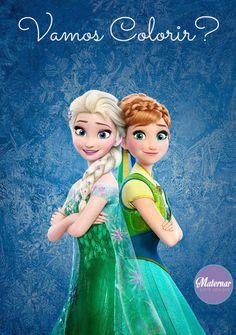 Frozen http://www.maternarparasempre.com.br/2015/05/desenhos-frozen-para-imprimir-e-pintar.html