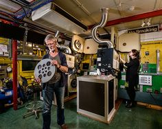 Richard Nicholson - The Projectionists - Peter Bell and Alexa Raisbeck | NFT1, BFI Southbank, London