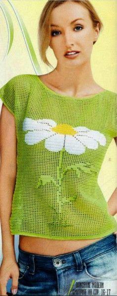 Letras e Artes da Lalá: Blusas de crochê (www.pinterest.com)