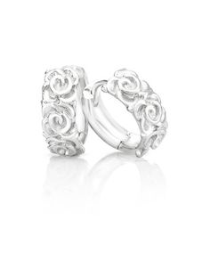 Josephine hoop earrings are set in sterling silver and are available in two sizes. Beautifully carved roses along the front facing hoop add to the charm of these easy to wear, must-have earrings. Pearl Drop Earrings, Stud Earrings, Shiny Eyes, Jenna Clifford, Silver Roses, Diamond Are A Girls Best Friend, Diamond Studs, Beautiful Earrings, Stone Jewelry