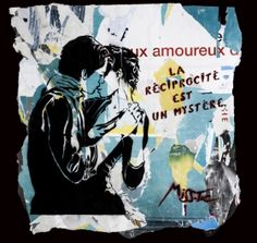 Street Art | Miss.Tic | La réciprocité est un mystère | Tirage d'art en série limitée sur L'oeil ouvert