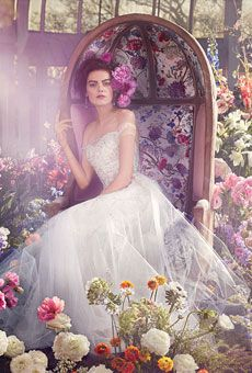 Brides: Romantic Wedding Dresses Inspired by Downton Abbeys Lady Mary