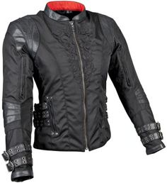 Speed and Strength Womens Motolisa Leather/Textile Jacket - Black