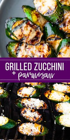 grilled chicken parmesan Balsamic grilled zucchini with parmesan is the most delish way to enjoy zucchini! Quick to prepare and bursting with flavor in every bite. Grilling Recipes, Gourmet Recipes, Vegetarian Recipes, Cooking Recipes, Healthy Recipes, Vegetarian Grilling, Grilling Ideas, Side Dish Recipes, Vegetarian Barbecue