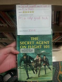 """The Secret Agent on Flight 101 by FW Dixon 5 stars- """"It's a really good book."""" -Eliza"""