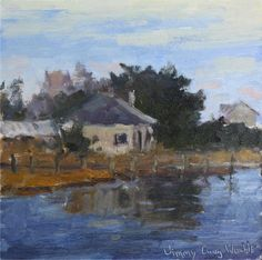 """""""Conch Point View"""" - landscape, plein air, a daily painting by Jimmy Craig Womble II"""