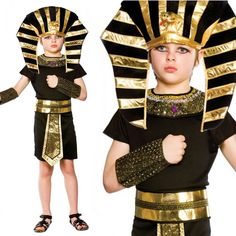 Boys Egyptian Pharaoh King Fancy Dress Book Week Costume Historical Kids Outfit #WickedCostumes