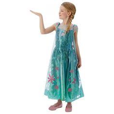 Een prachtige prinsessenjurk voor meisjes, Elsa draagt de jurk in de bekende Disney film Frozen Fever.