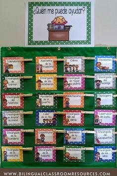 Bilingual Classroom, Classroom Jobs, Bilingual Education, Classroom Language, Primary Classroom, Classroom Resources, Classroom Management, Classroom Decor, Teacher Resources