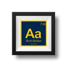 8 x 8 ANN ARBOR MICHIGAN Instant Download  by MyHandMadeSigns