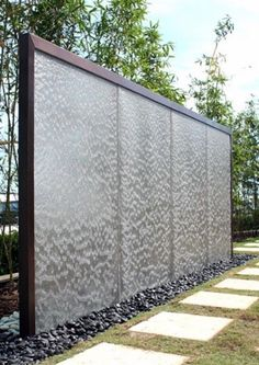 Garden, Charming Outdoor Water Walls Design Ideas With Fancy Glass And Elegant Frame Garden Waterfalls Fountains Indoor Waterfall Solar Supplies Pondless Powered Patio Features: Astonishing Beautiful Out of doors Water Partitions For Your Backyard Outdoor Wall Fountains, Garden Fountains, Outdoor Walls, Outdoor Spaces, Water Fountains, Garden Ponds, Backyard Ponds, Koi Ponds, Outdoor Ideas