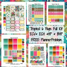 Tropics Kit! Absolutely love this kit, and I will definitely be doing my spread with this! Can't wait to see your photos using the kit :) #plannerproblem #planneraddict #plannergirl…