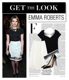 """Get the Look: Emma Roberts"" by mars ❤ liked on Polyvore featuring Nicki Minaj, Barneys New York, Calvin Klein, Ben-Amun, Emilio Pucci and Christian Louboutin"