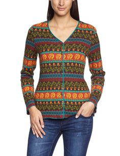 LANA natural wear Damen Strickjacke, geblümt 132 2023 4300 Jacke Adelia, Gr. 40/42 (M), Mehrfarbig (3386 Jacquard Adelia): Amazon.de: Bekleidung
