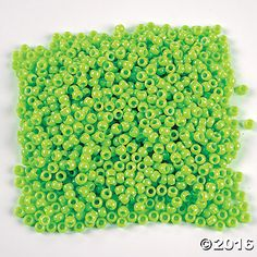 1/2 Lb. of Lime Green Pony Beads