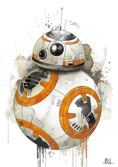 BB 8 by AlexAasen #illustration #starwars in Illustration