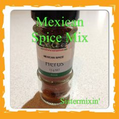 Mexican spice mix - preservative and additive free. Mexican Spice Mix, Thermomix Soup, Spice Mixes, Mexican Food Recipes, Spices, Herbs, Tableware, Super Easy, Soups