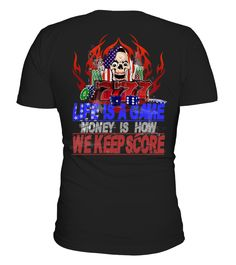 Life Is A Game For Money T shirt!  #videogame #shirt #tzl #gift #gamer #gaming