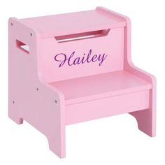 Guidecraft Expressions Pink Step Stool with Personalization Purple - G87506-103-206-303